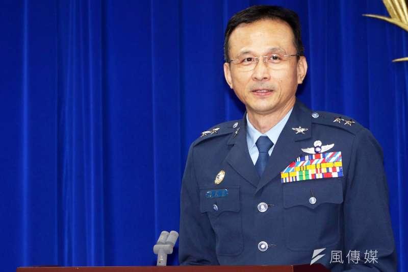 20190730-情報次長陳國華中將30日出席國防部記者會(蘇仲泓攝)