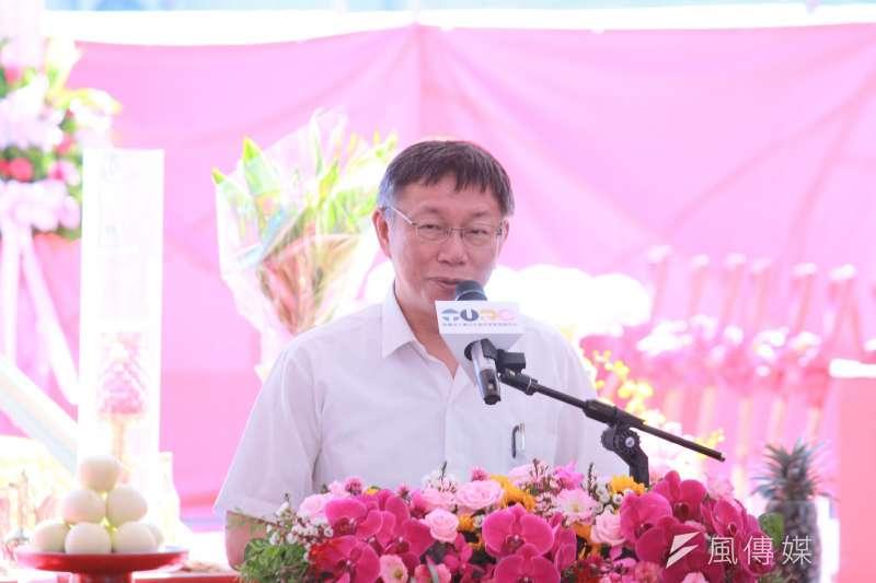 20190731-台北市長柯文哲31日出席大直北安站公辦都更開工動土典禮。(方炳超攝)