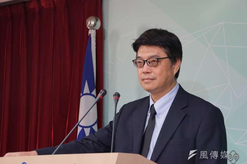 20190801-陸委會例行記者會,副主委邱垂正主持。(盧逸峰攝)