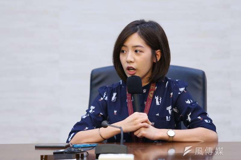 20190801-台北市副發言人學姐黃瀞瑩1日結束媒體聯訪。(顏麟宇攝)