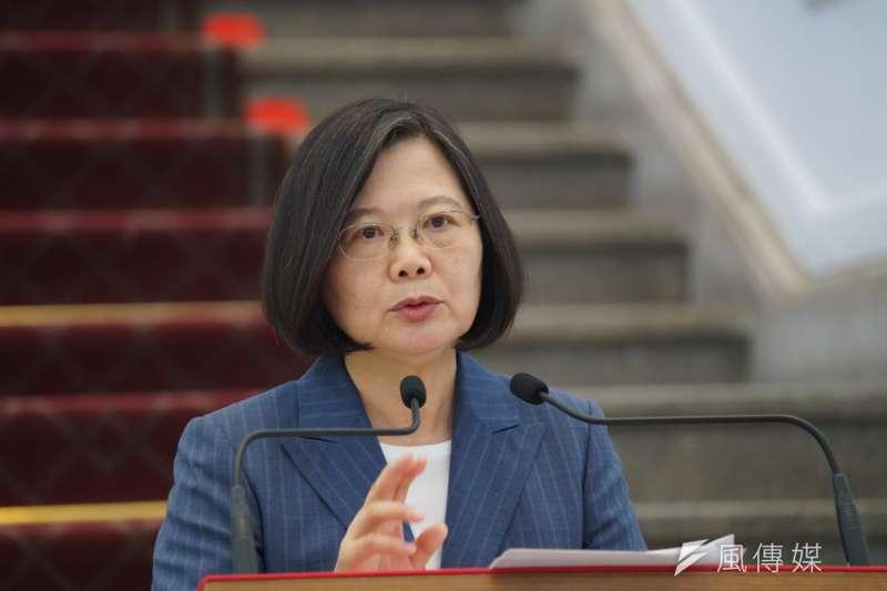 總統蔡英文17日表示,希望香港人民期待的自由民主可以真正落實,國家安全會議將有專案小組觀察香港情勢發展。(資料照,盧逸峰攝)