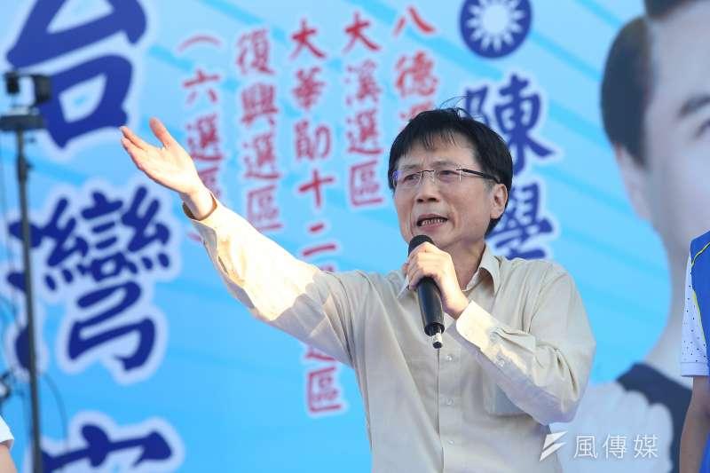 國民黨桃園市議員詹江村(見圖)發文,要香港人別被台灣年輕人誤導,還說其實香港比台灣自由太多了。(資料照,顏麟宇攝)