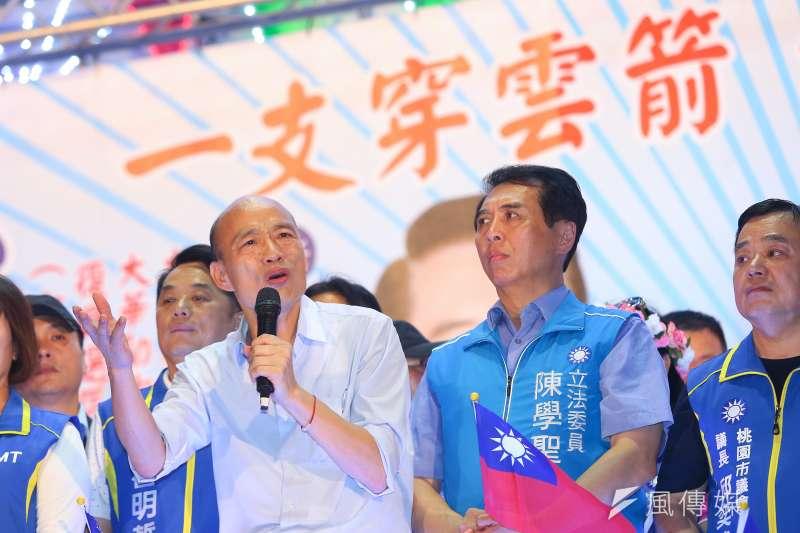 國民黨總統參選人韓國瑜造勢活動。(顏麟宇攝)