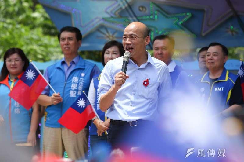 香港反送中事件持續升溫,高雄市長韓國瑜5日表態支持香港民主自由,但同時也說「香港動亂」等,引發爭議。(資料照,顏麟宇攝)