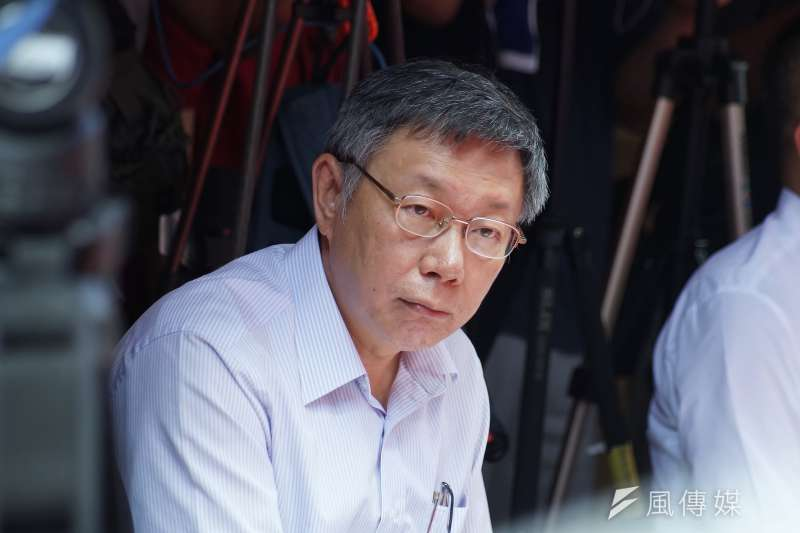 20190805-台北市長柯文哲參訪迪化207博物館。(盧逸峰攝)