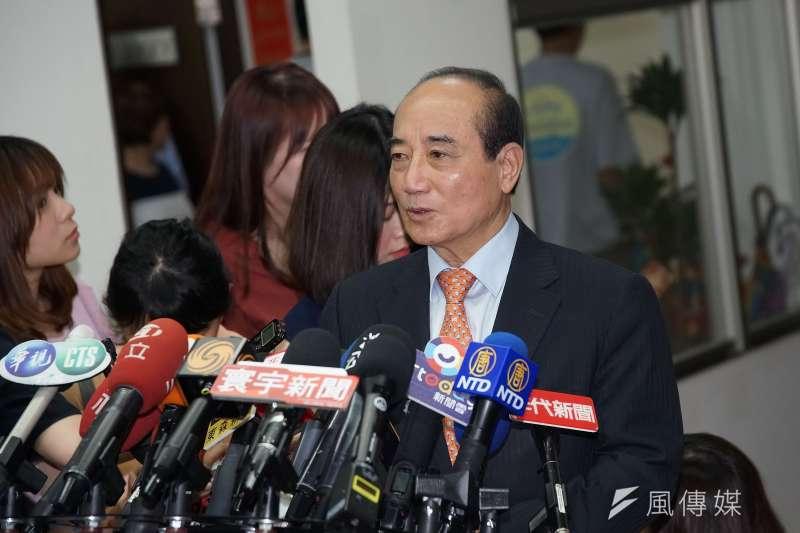20190805-前立法院長王金平接受聯訪。(盧逸峰攝)