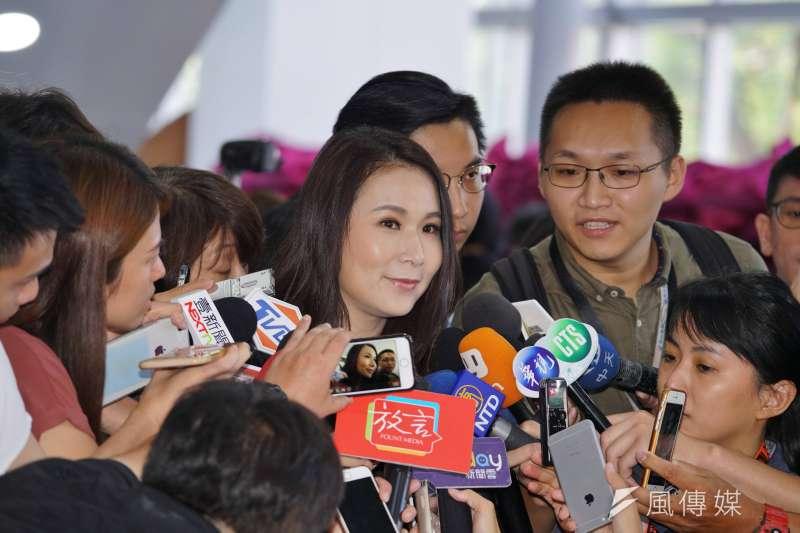 20190806-劉宥彤出席台灣民眾黨成立大會。(盧逸峰攝)