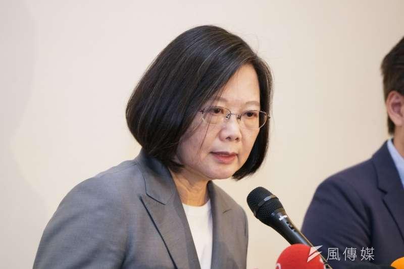 台灣制憲基金會的最新民調顯示,2020總統選舉無論是哪種競爭組合,民進黨的蔡英文都將贏得勝選。(資料照,盧逸峰攝)