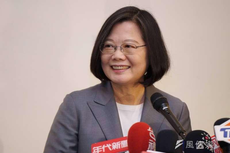 台灣總統蔡英文。(盧逸峰攝)