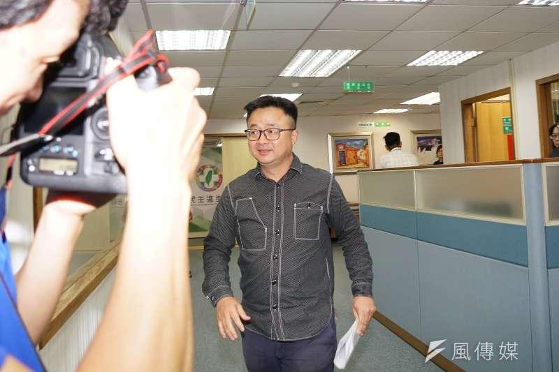 20190807-民進黨中執會,祕書長羅文嘉出席。(盧逸峰攝)