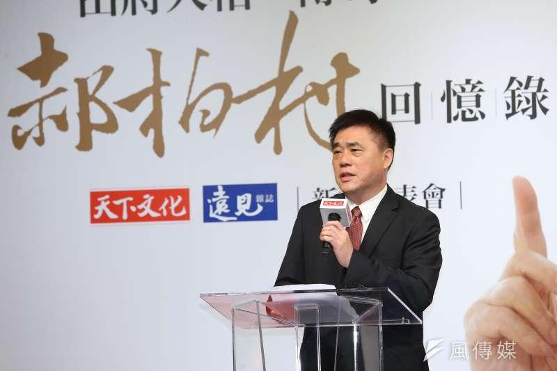 20190808-前台北市長郝龍斌8日出席「郝柏村回憶錄」新書發表會。(顏麟宇攝)