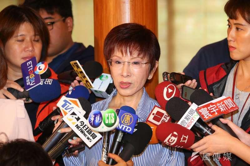 前立法院副院長洪秀柱(見圖)將前進台南選立委,不少藍營立委表示肯定。(顏麟宇攝)