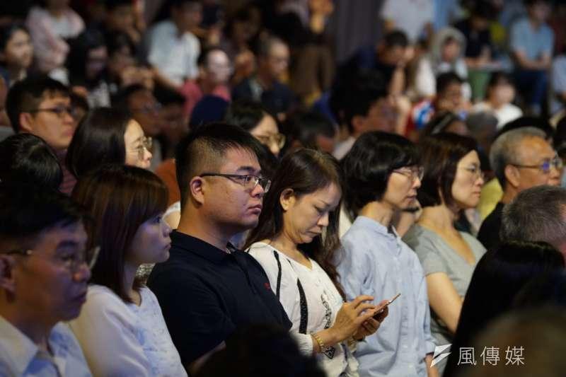 20190810-思沙龍「怎麼理解這個中國?從近世歷史看中國的內與外」,許多民眾入場聆聽。(盧逸峰攝)