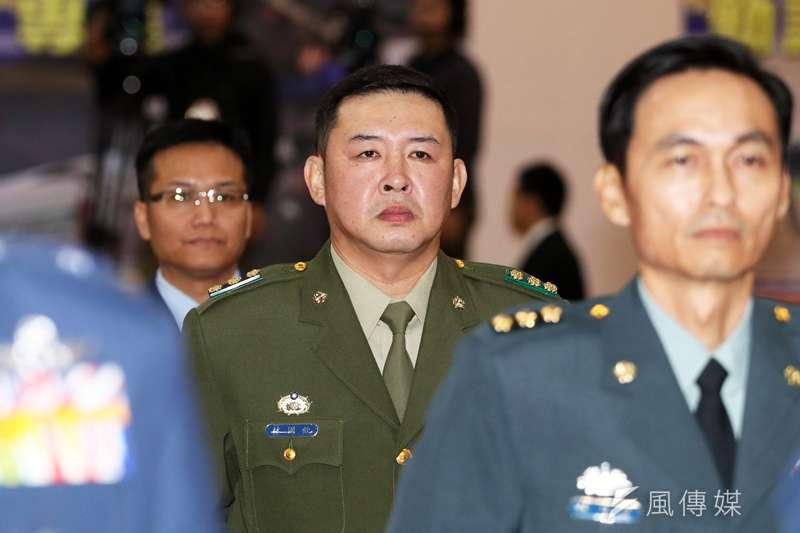 永和警衛室內衛主任林國欽少將(中)未因特勤私菸案被懲處。(資料照,蘇仲泓攝影)