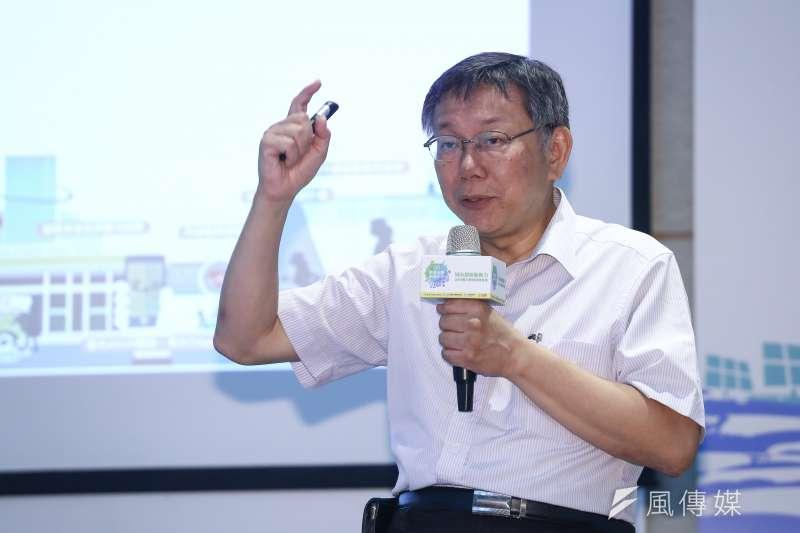 台北市長柯文哲不選總統,2020的台灣民眾黨就只能是陪襯。(陳品佑攝)