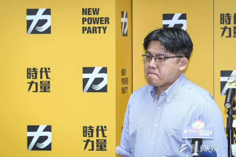 20190812-時代力量黨主席邱顯智於12日中午突然召開記者會,並宣布請辭黨主席一職。(陳品佑攝)