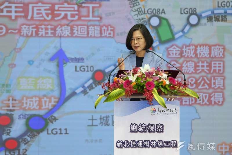 20190812-總統蔡英文12日視察捷運萬大線第二期工程。(顏麟宇攝)