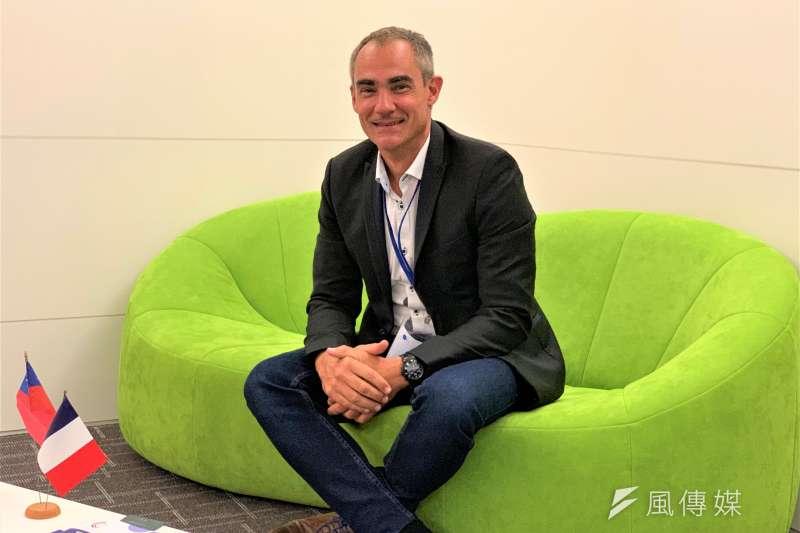 法國海洋科技公司Ecocean創辦人勒卡隆(Gilles Lecaillon)(簡恒宇攝)