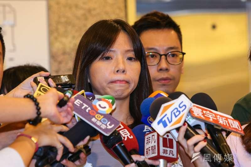 20190813-立委洪慈庸13日召開記者會宣布退出時代力量。(顏麟宇攝)