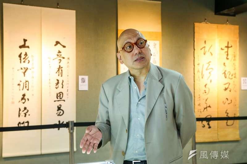 松濤社負責人、建築師宋緒康本月在台北舉辦「中華文化之滅絕與復興」展覽活動。(顏麟宇攝)