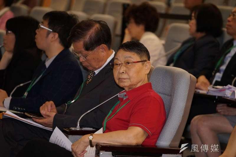 20190813-黨產會中華救助總會案聽證會,救總前理事長葛雨琴出席。(盧逸峰攝)