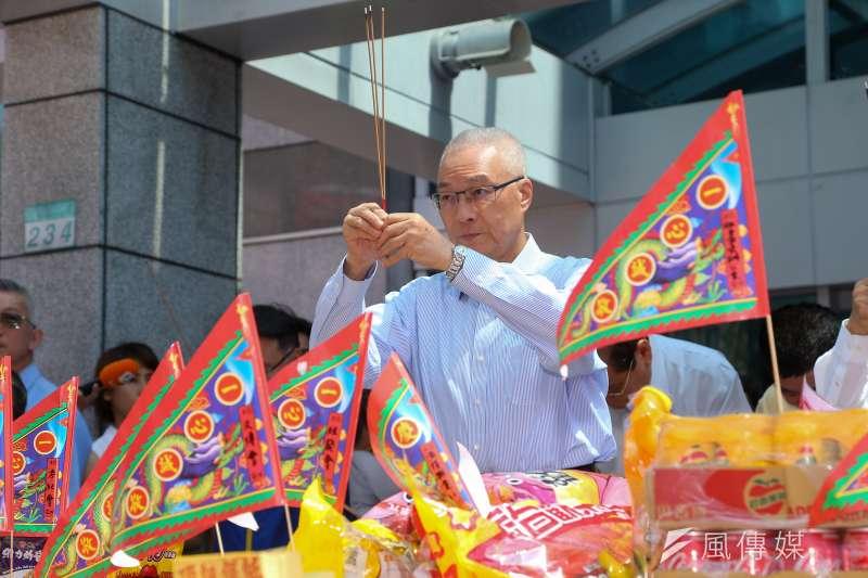 國民黨主席吳敦義畏懼韓粉就註定輸掉2020這一局。(顏麟宇攝)