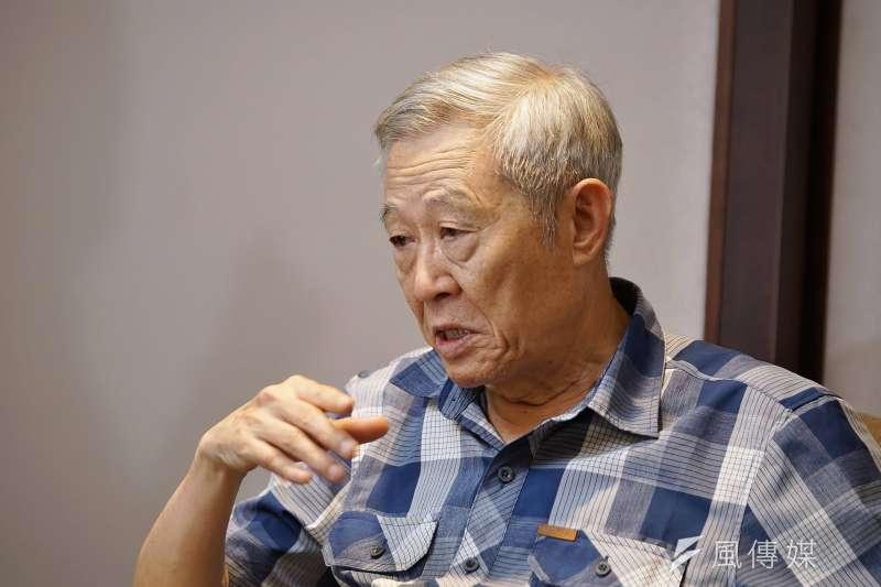 20190814-淡江大學大陸所榮譽教授、亞太和平研究基金會首席顧問趙春山接受《風傳媒》專訪。(盧逸峰攝)