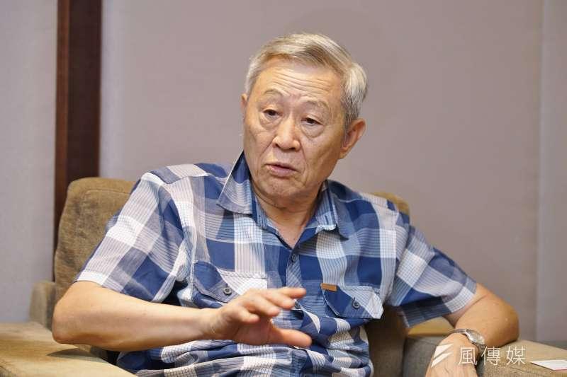 2020大選將至,淡江大學大陸所榮譽教授、亞太和平研究基金會首席顧問趙春山指出,台灣將遇上大陸的「歷史交匯時期」,維持現狀恐不再是選項。(盧逸峰攝)