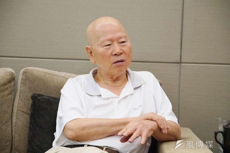中美對抗情勢趨緊、香港爆發反送中行動。對此,前民進黨主席許信良接受《風傳媒》專訪時指出,這是中國大陸近年極端政治的「物極必反」。(盧逸峰攝)
