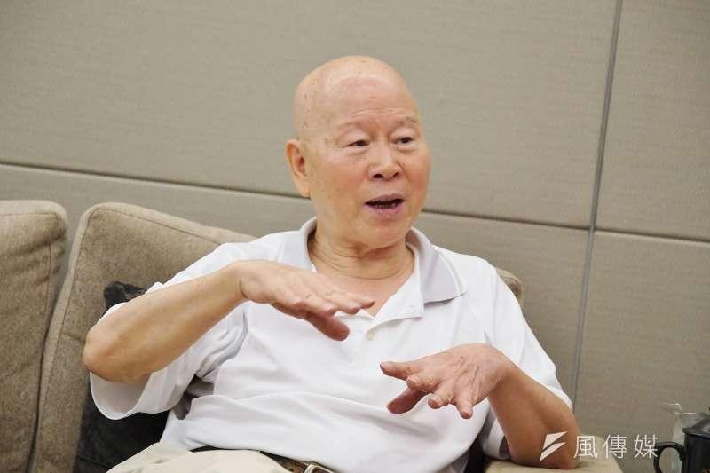 20190814-亞太和平研究基金會董事長、前民進黨主席許信良接受《風傳媒》專訪。(盧逸峰攝)