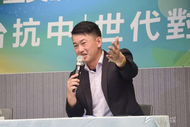 20190814-陳柏惟出席民進黨國際部召開「金美齡與陳柏惟世代對話」。(吳俊廷攝)