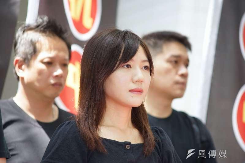 20190815-台北市議員吳沛憶出席「NCC普渡,普渡NCC」活動。(盧逸峰攝)