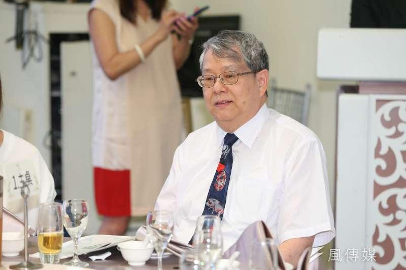 20190817-監察委員陳師孟17日出席2019永社感恩募款餐會。(顏麟宇攝)