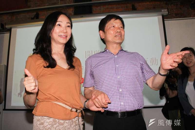 20190817-高雄市長夫人李佳芬(左)17日參訪永康街商圈,右為永康街商圈協進會理事長李慶隆。(蔡親傑攝)