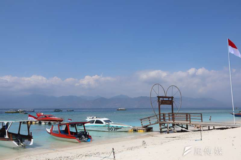 印尼吉利群島德拉望安島的渡船口。(蔡娪嫣攝)