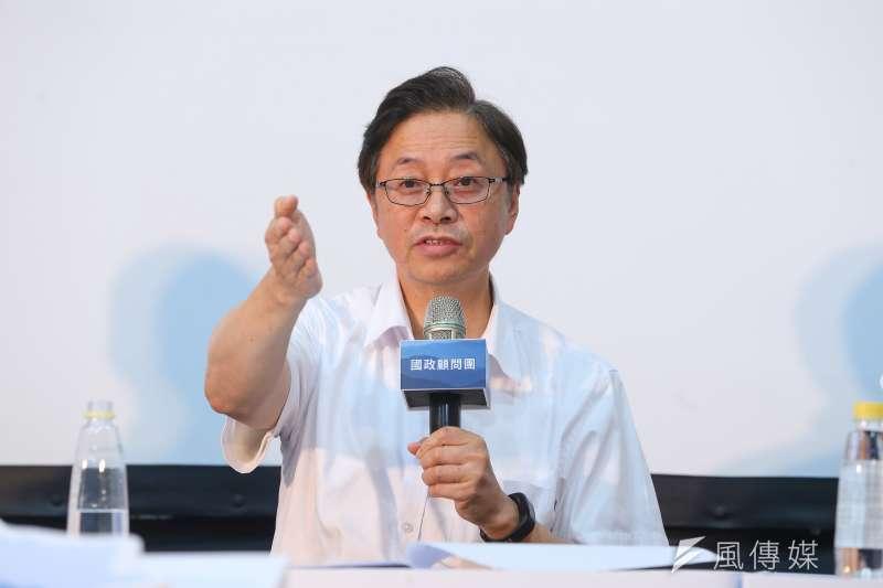 20190817-韓國瑜國政顧問團總召張善政17日出席國政顧問團成軍記者會。(顏麟宇攝)