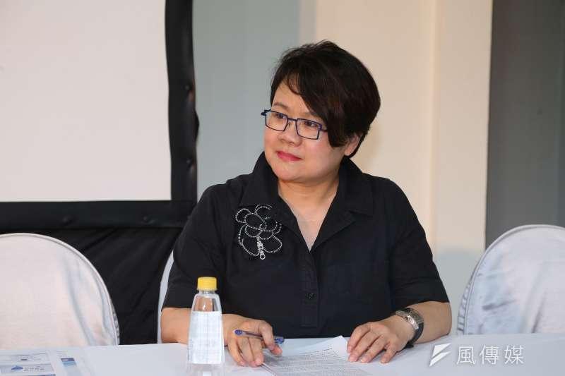 20190817-前政務委員蔡玉玲17日出席韓國瑜國政顧問團成軍記者會。(顏麟宇攝)