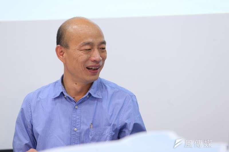 高雄市政府指出,市長韓國瑜(見圖)之所以懷疑被國家機器監控,起因於數度接獲情治系統友人警告。(資料照,顏麟宇攝)