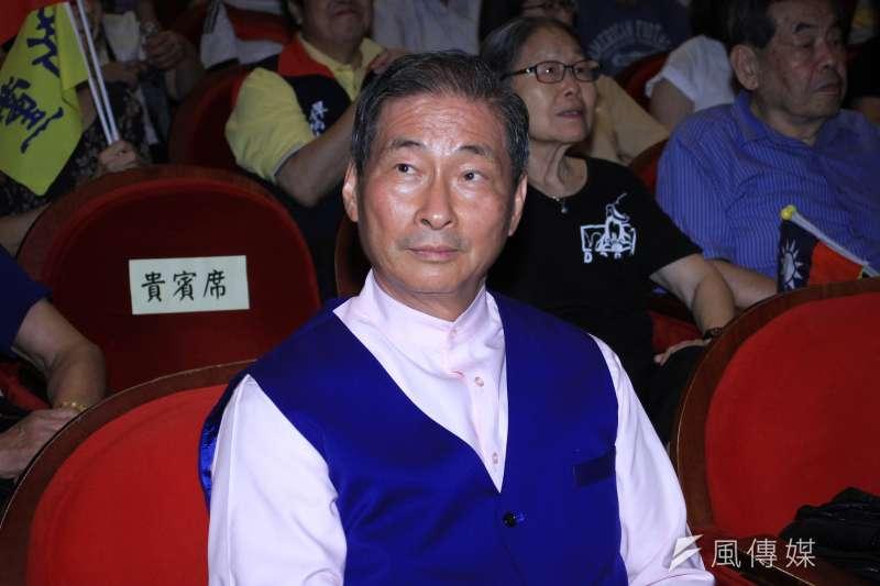 20190817-中華統一促進黨總裁張安樂出席新黨26週年黨慶大會。(蔡親傑攝)