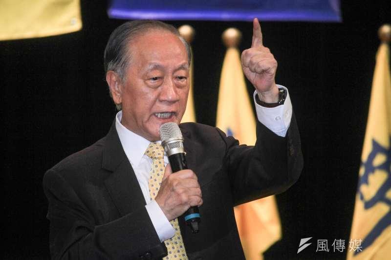 新黨前黨主席郁慕明(見圖)批評陳柏惟提出的「香港人當兵說」是弱智言論。(資料照,蔡親傑攝)