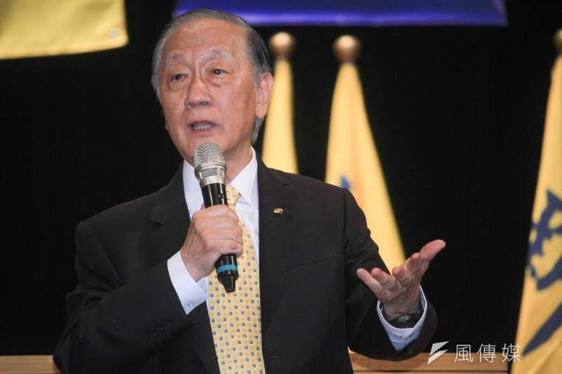 20190817-新黨17日舉行26週年黨慶大會,黨主席郁慕明現場發表演說。(蔡親傑攝)