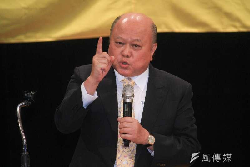 20190817-新黨17日舉行26週年黨慶大會,副主席李勝峰現場發表演說。(蔡親傑攝)