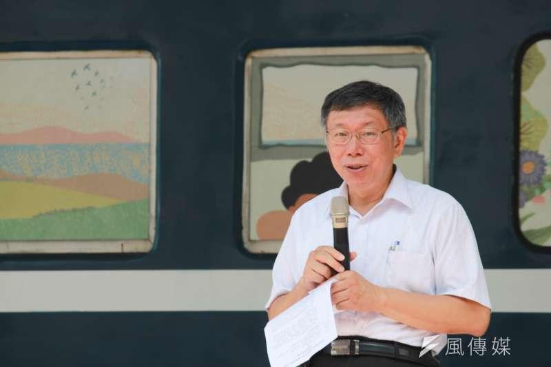 談及與前鴻海董事長郭台銘及前立法院長王金平的動態,台北市長柯文哲(見圖)17日表示,因大家過去沒有合作過,所以有些東西也許需要磨合。(方炳超攝)