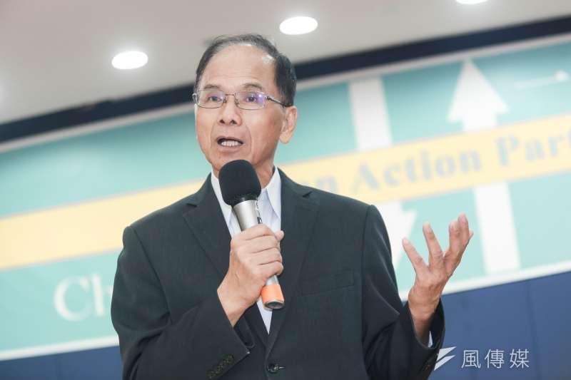 20190818-前行政院長游錫坤18日出席一邊一國行動黨成立大會。(簡必丞攝)