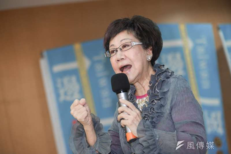 20190818-前副總統呂秀蓮18日出席一邊一國行動黨成立大會。(簡必丞攝)