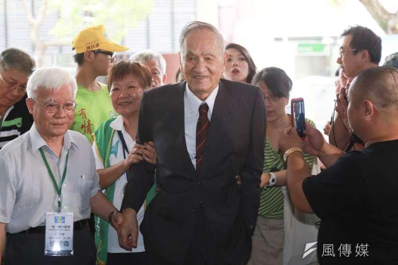 20190818-彭明敏教授18日出席一邊一國行動黨成立大會。(簡必丞攝)
