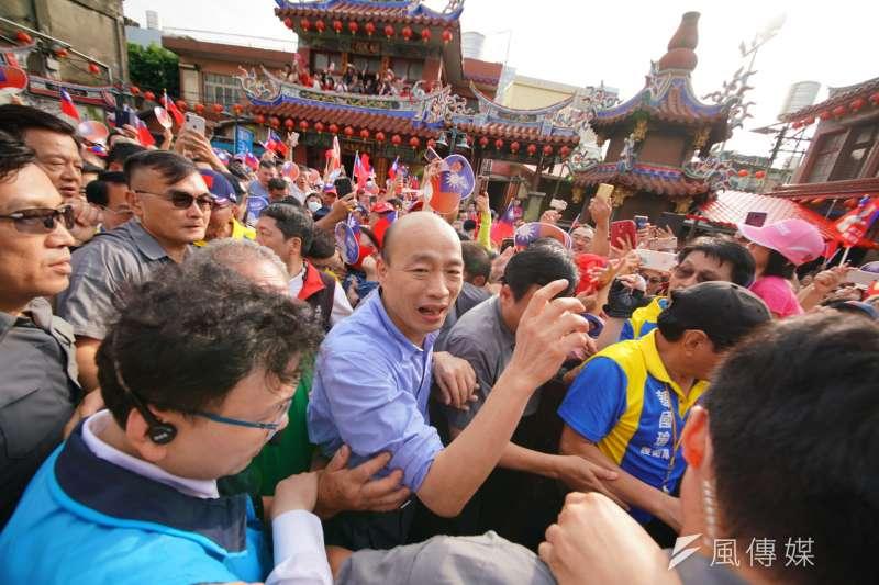年輕人對高雄市長韓國瑜和韓粉的排斥,根底裡是對「苦人」形象的排斥。(盧逸峰攝)