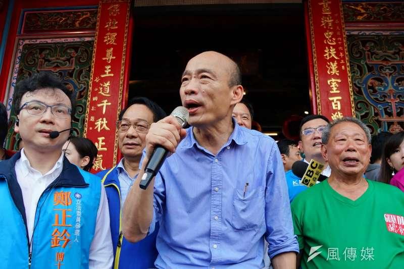 高雄市長韓國瑜(見圖)痛批民進黨漠視八二三,但高市府今日卻無任何紀念活動。(盧逸峰攝)