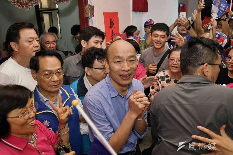 對於國民黨總統參選人韓國瑜(見圖)指座車可能被裝追蹤器,政大地政系教授徐世榮表示,這是韓一貫的選舉伎倆。(資料照,盧逸峰攝)