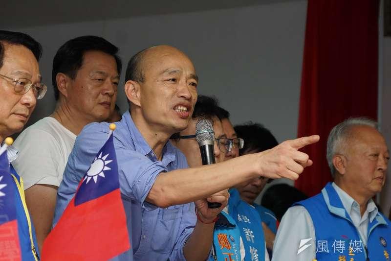 台灣民意基金會昨(24)日公布最新民調,在政治人物反感度上面,高雄市長韓國瑜(見圖)拿下第一,甚至超越中國國家主席習近平。(資料照,盧逸峰攝)